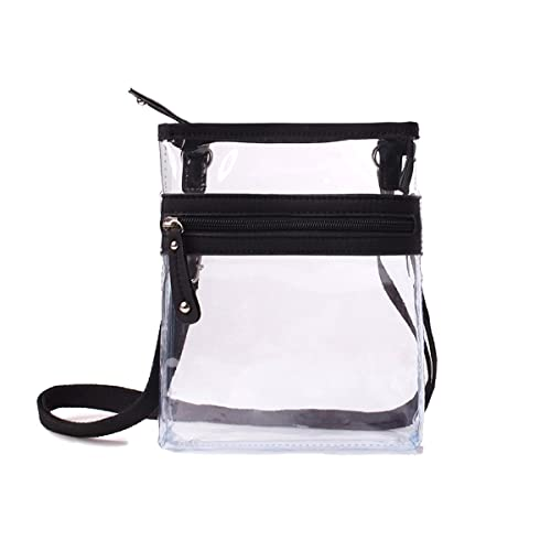 f547a49596d4 Small Clear Messenger Bag - Stadium Approved - with Front Zipped Pocket and  Adjustable Shoulder Strap
