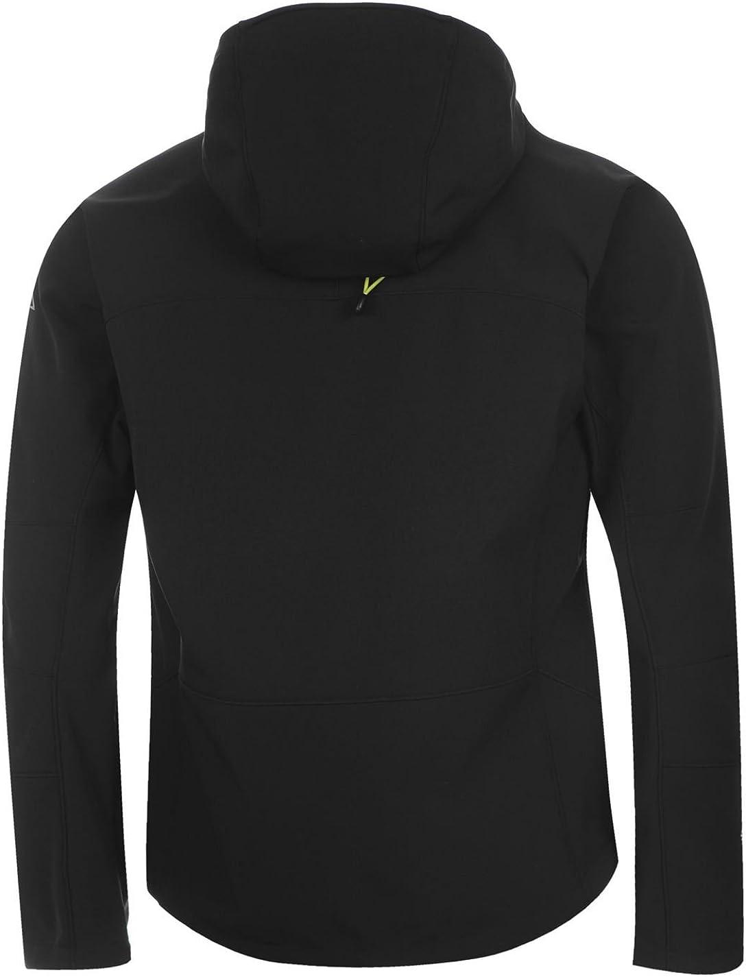 Karrimor Uomo Alpiniste Soft Shell Giacca con Cappuccio Black/Yellow TfDAc