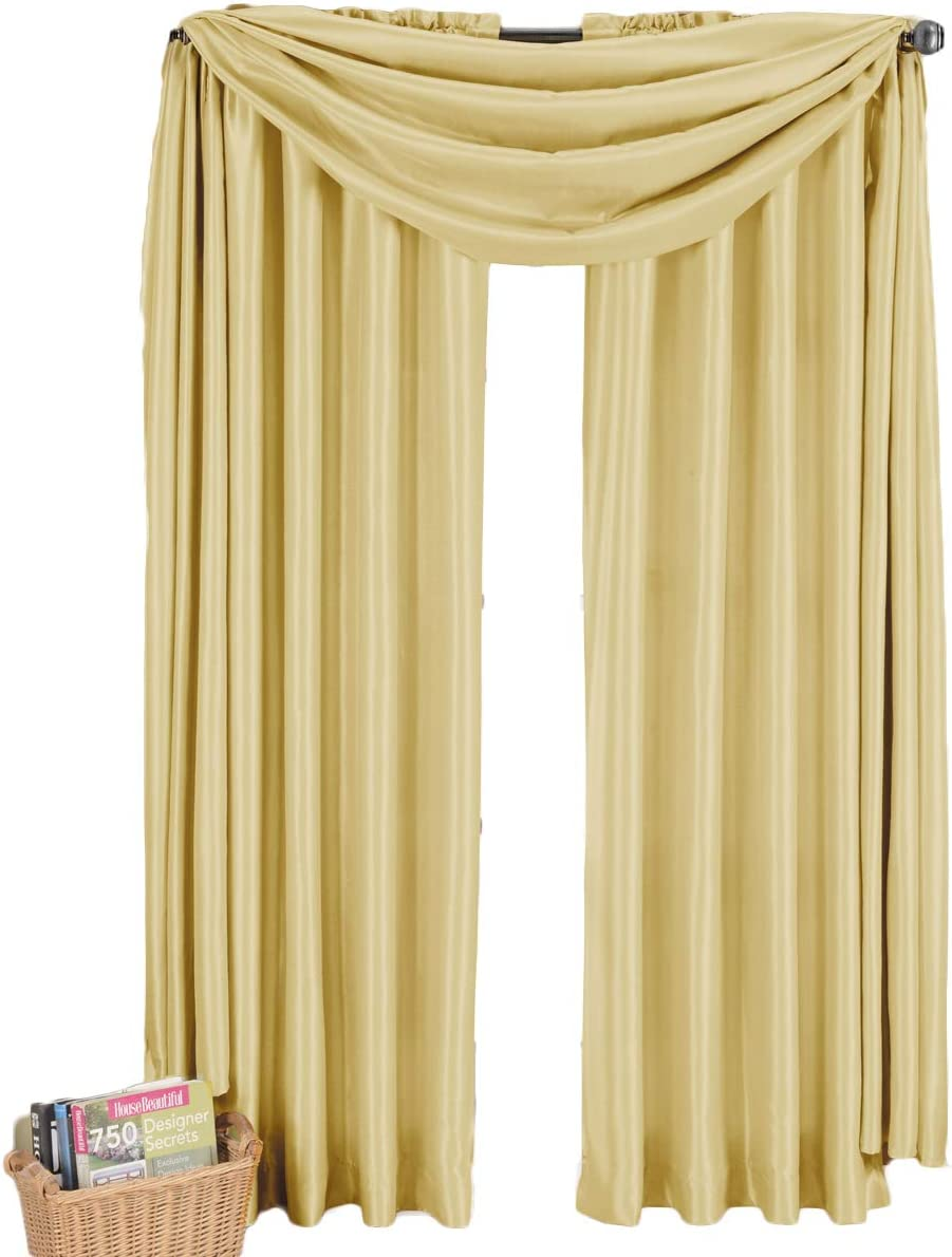 sheetsnthings Ivory One Soho Scarf Window Treatment 42×216 long