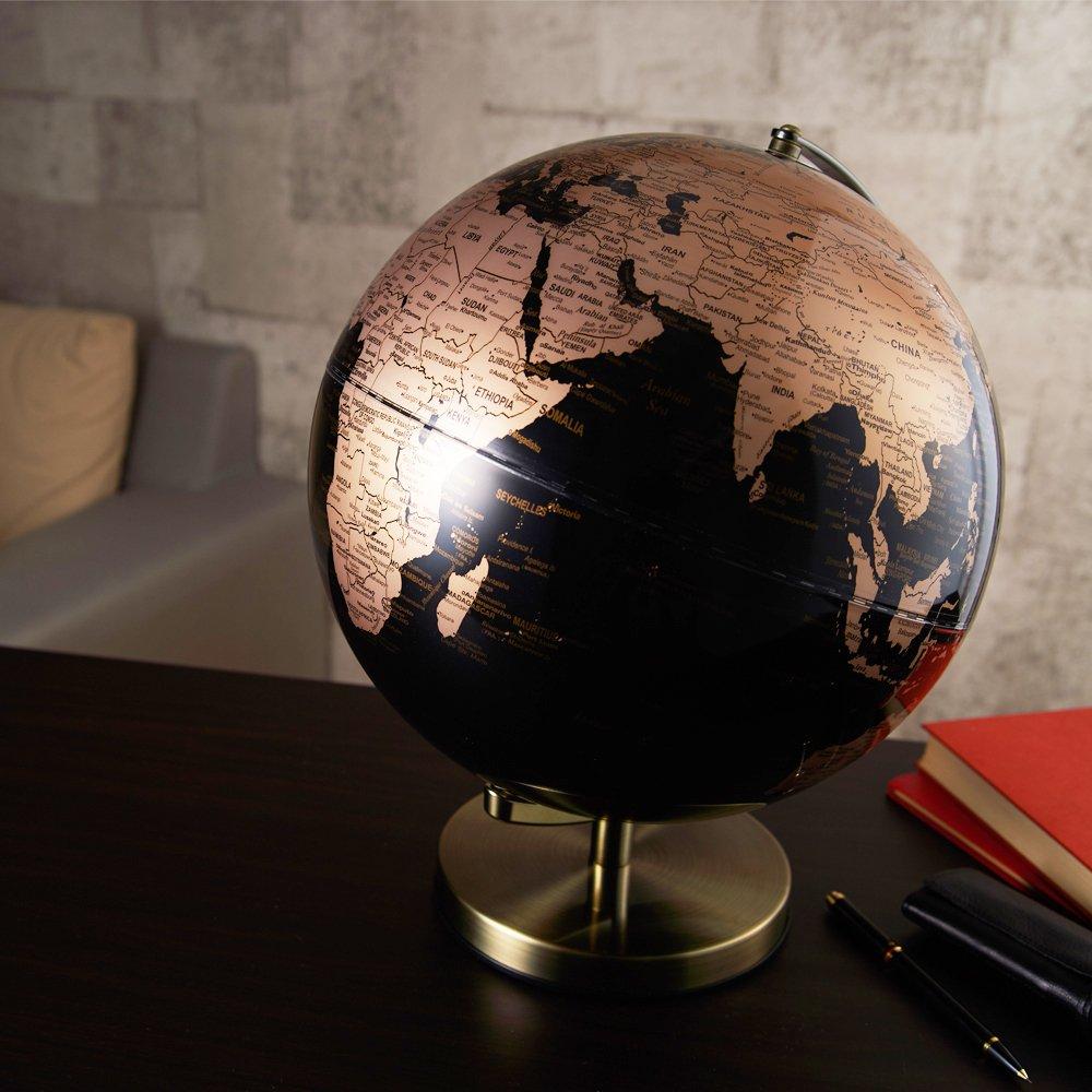 ナカバヤシ ライティングアース 光る地球型オブジェ 球径30cm ゴールド LE-30-GL