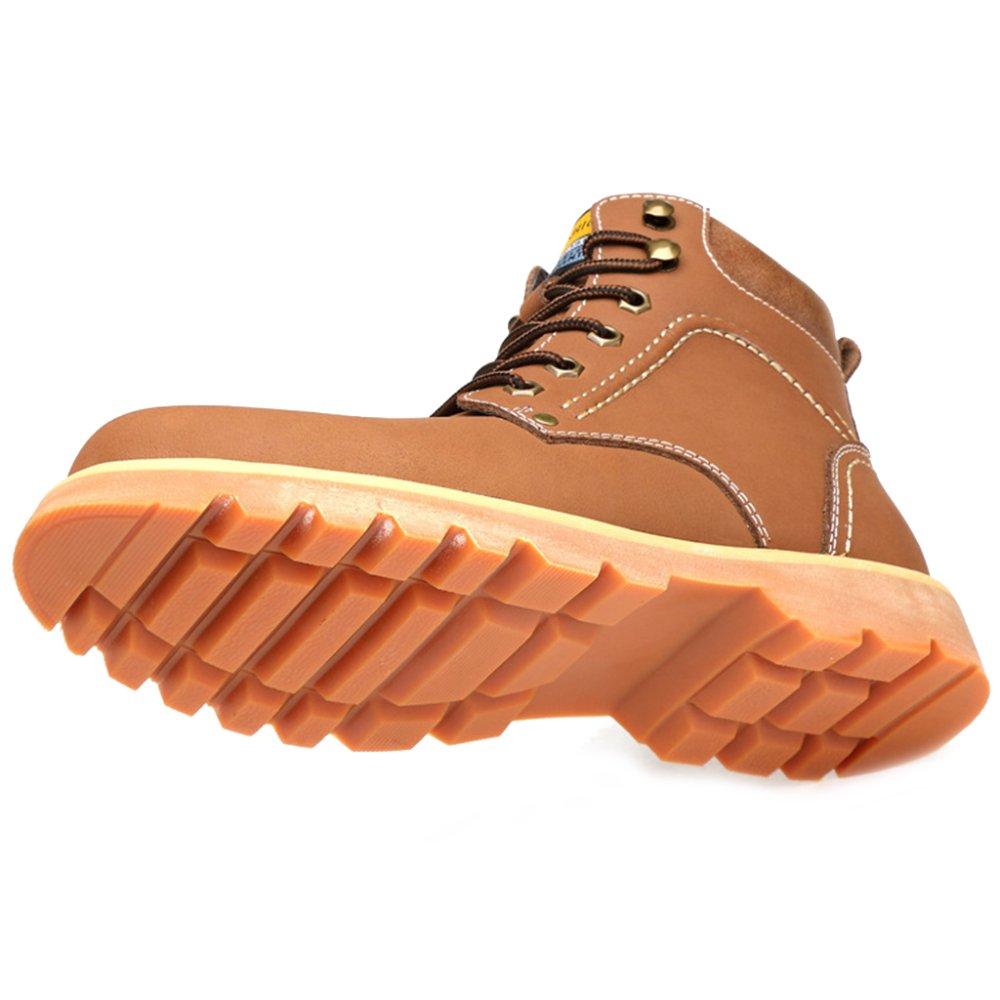 Souy Herren Desert Echtes Leder Martin Stiefel Desert Herren Stiefel Ankle Boot Outdoor Sportschuhe Casual Klettern Bergschuh Für Männer Arbeit Braun 0b2a3b