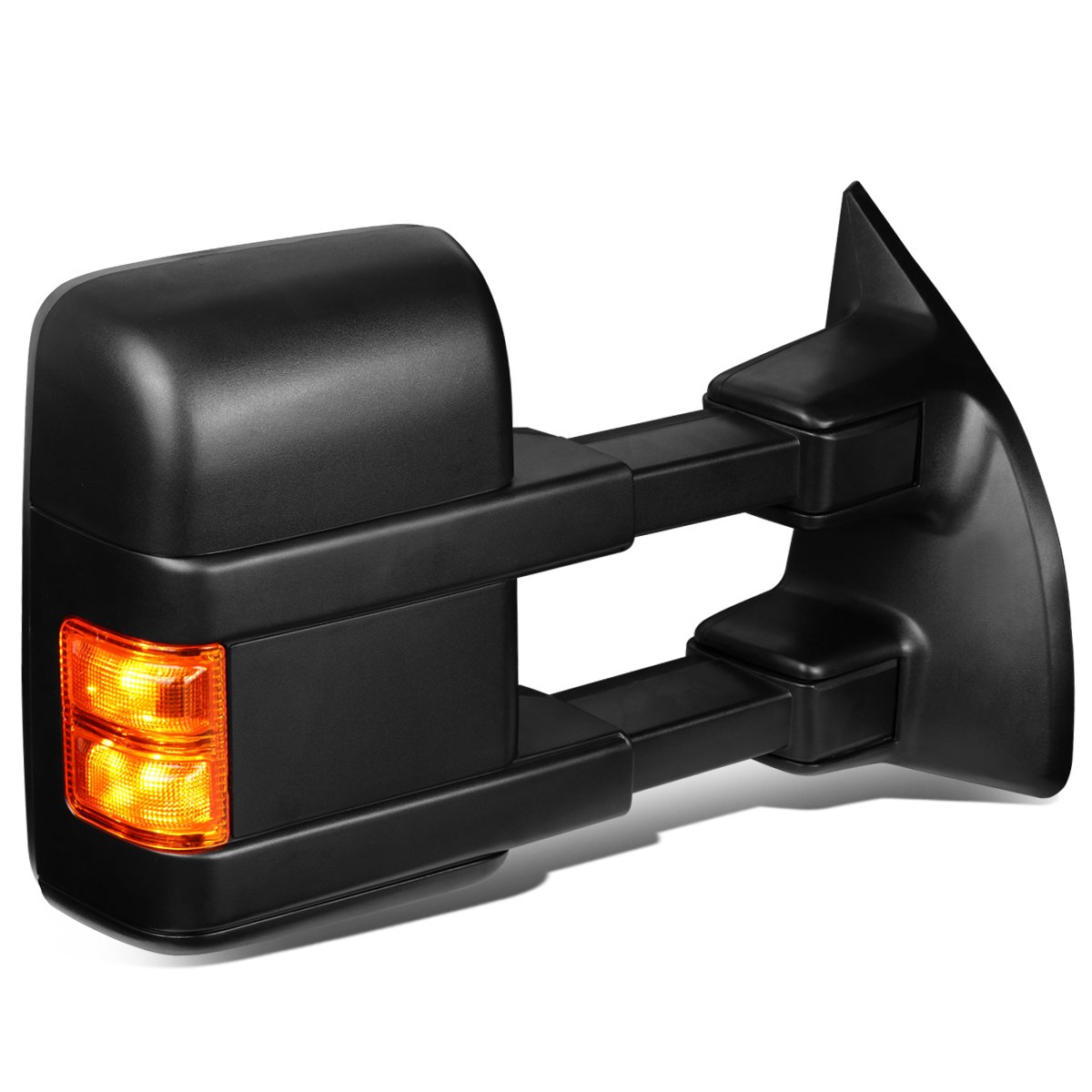 For Ford Super Duty Powered w/Heated+Amber LED Turn Signal Tow Towing Mirror (Right/Passenger) Auto Dynasty