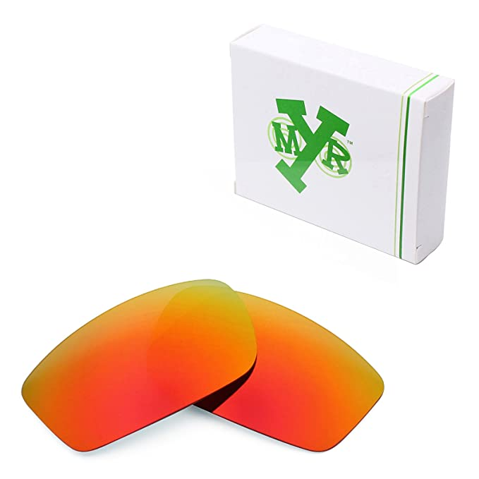 4bc83661a0 Mryok Polarized Replacement Lenses for Oakley Square Wire New 2006 - Fire  Red