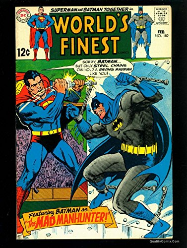 World's Finest Comics #182 FN/VF 7.0 Tongie Farm Collection Pedigree