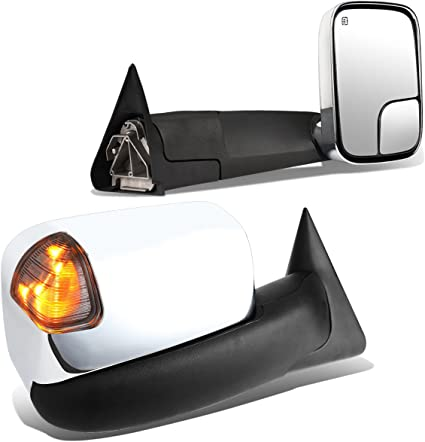 FOR 1998-2002 DODGE RAM PAIR POWERED+HEATED+AMBER LED TURN SIGNAL TOWING MIRROR