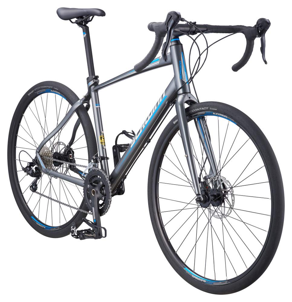 Schwinn Vantage RX 2 700c Gravel Adventure Bike with Disc Brakes, 45cm Small Frame, Charcoal