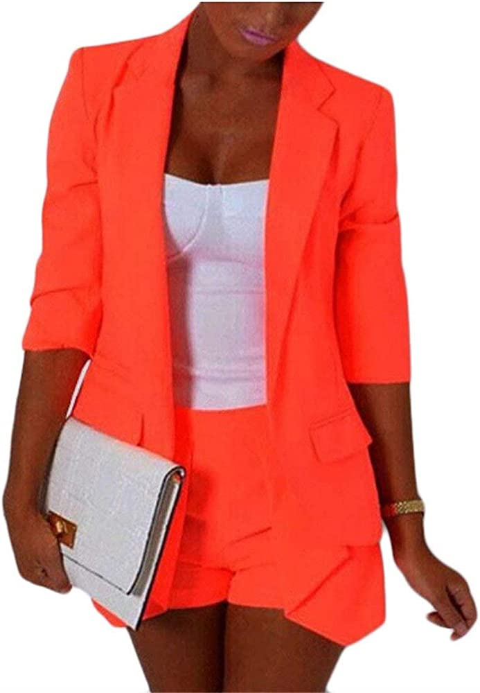 Abrigos Mujer Moda Invierno Largo Blazer Color Sólido Chic Ropa Manga Larga Casual Bolsillos Delanteros De Solapa Americana Cómodo Camisa (Color : 1, Size : S): Amazon.es: Ropa y accesorios