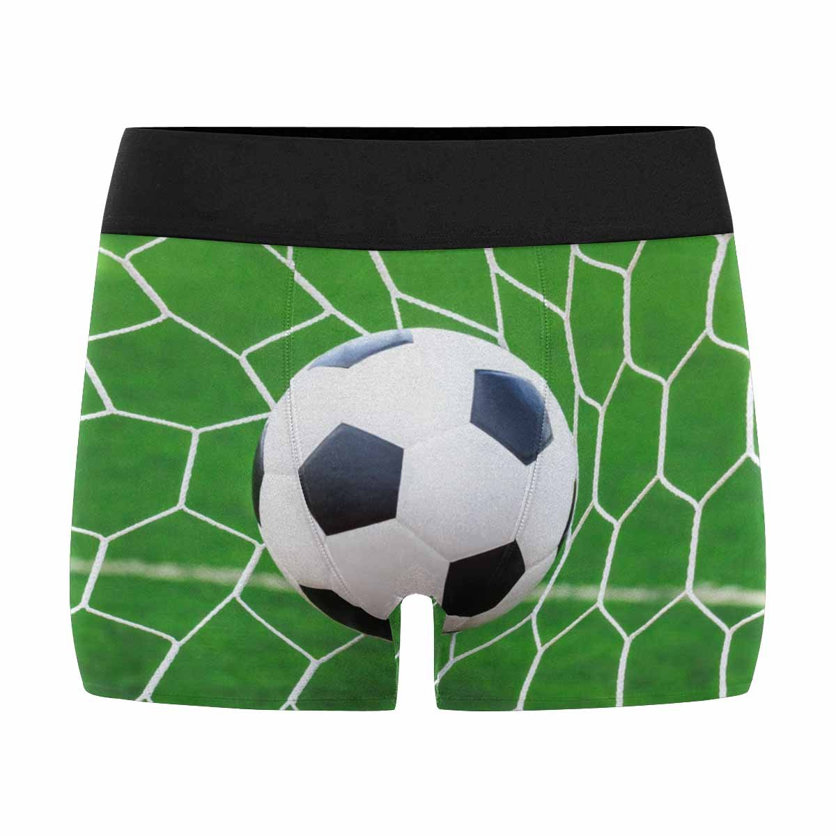 XS-3XL INTERESTPRINT Custom Mens All-Over Print Boxer Briefs Football Goal