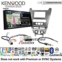 Volunteer Audio Kenwood DNX874S Double Din Radio Install Kit with GPS Navigation Apple CarPlay Android Auto Fits 2008-2011 Focus