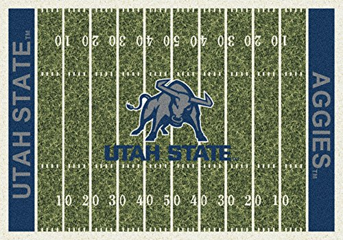 (Ship from USA) 8x11 Milliken Utah State Aggies NCAA Home Field Area Rug - Approx 7