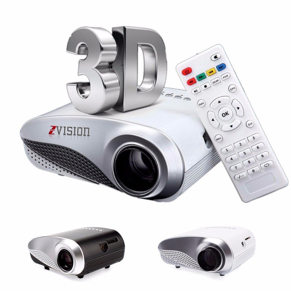 tv projector. zvision hd mini portable led projector 20 - 100 inch tv: amazon.in: electronics tv