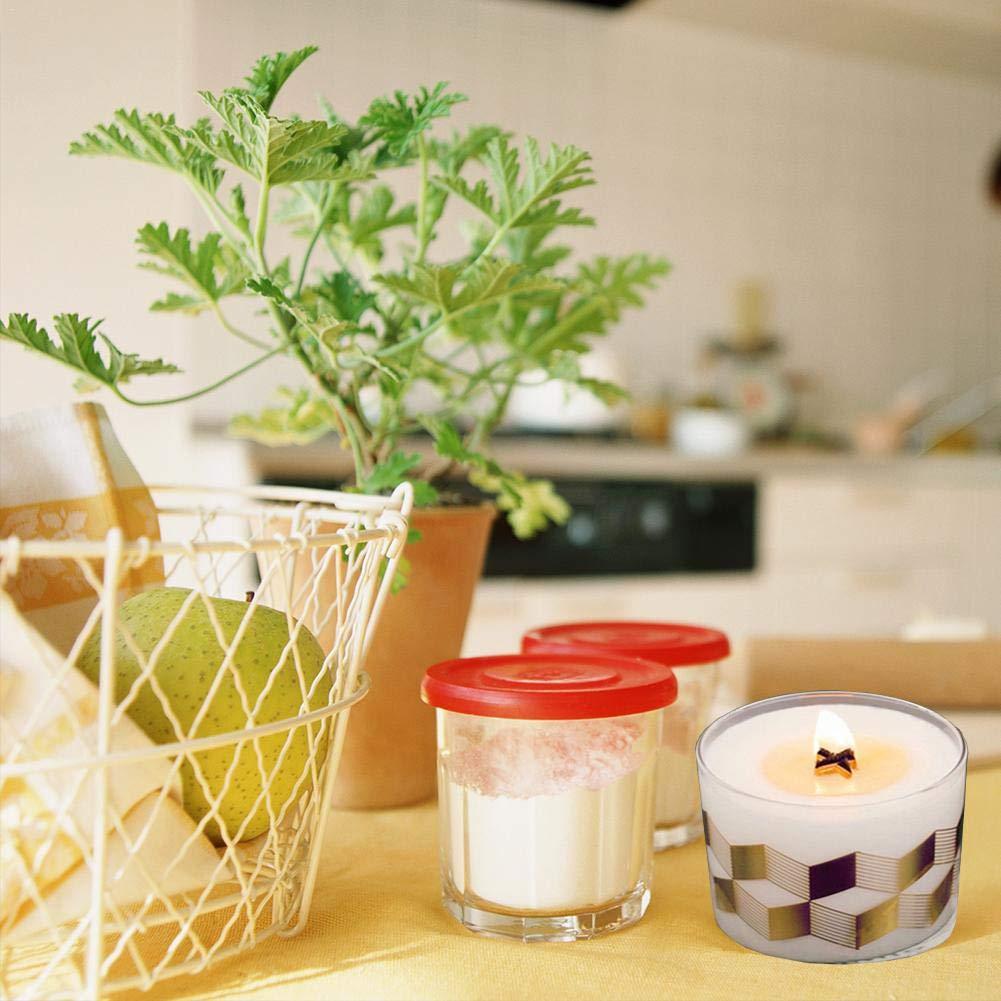 50pcs fai-da-te croce in legno candela stoppini nuclei di candela naturale con base in metallo per fare candela