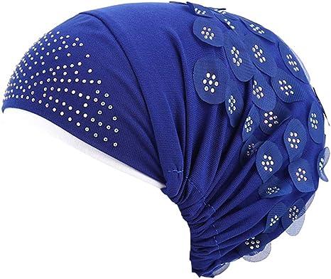 Amorar Gorros Oncologicos Sombrero Pañuelo Lentejuelas Musulmán Hijib Turbante para Mujeres Cáncer de Pérdida de Cabello: Amazon.es: Deportes y aire libre