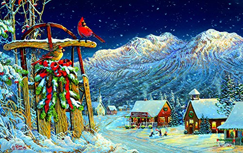 Cardinals Holiday 550 Piece Jigsaw Puzzle by SunsOut