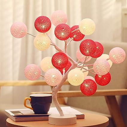 amazon com yre led nordic wind manual cotton ball tree lamp bedroom