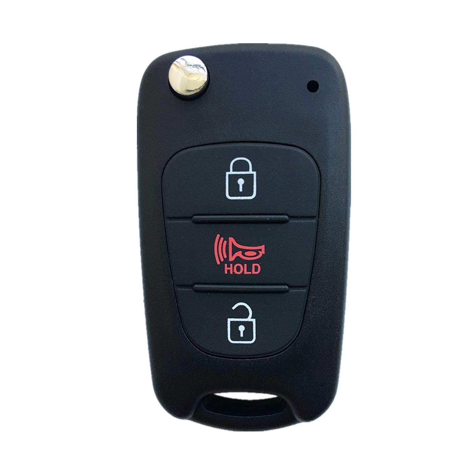 Dudely Just the Case Keyless Entry Remote Control 3 Key Shell Fob Case Cover for 2010-2013 KIA Soul NYOSEKSAM11ATX Fulfilled by
