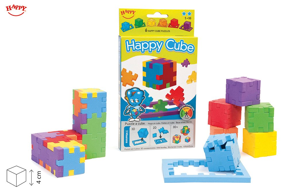 Happy, Happy Cube, Set of 6 Foam Puzzle Cubes, Ages 5 to 99 by Happy Cube (Image #1)