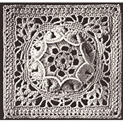 Vintage Crochet PATTERN to make - MOTIF MEDALLION BLOCK Bedspread Flower Queen Design. NOT a finished item. This is a pattern and/or instructions to make the item only.