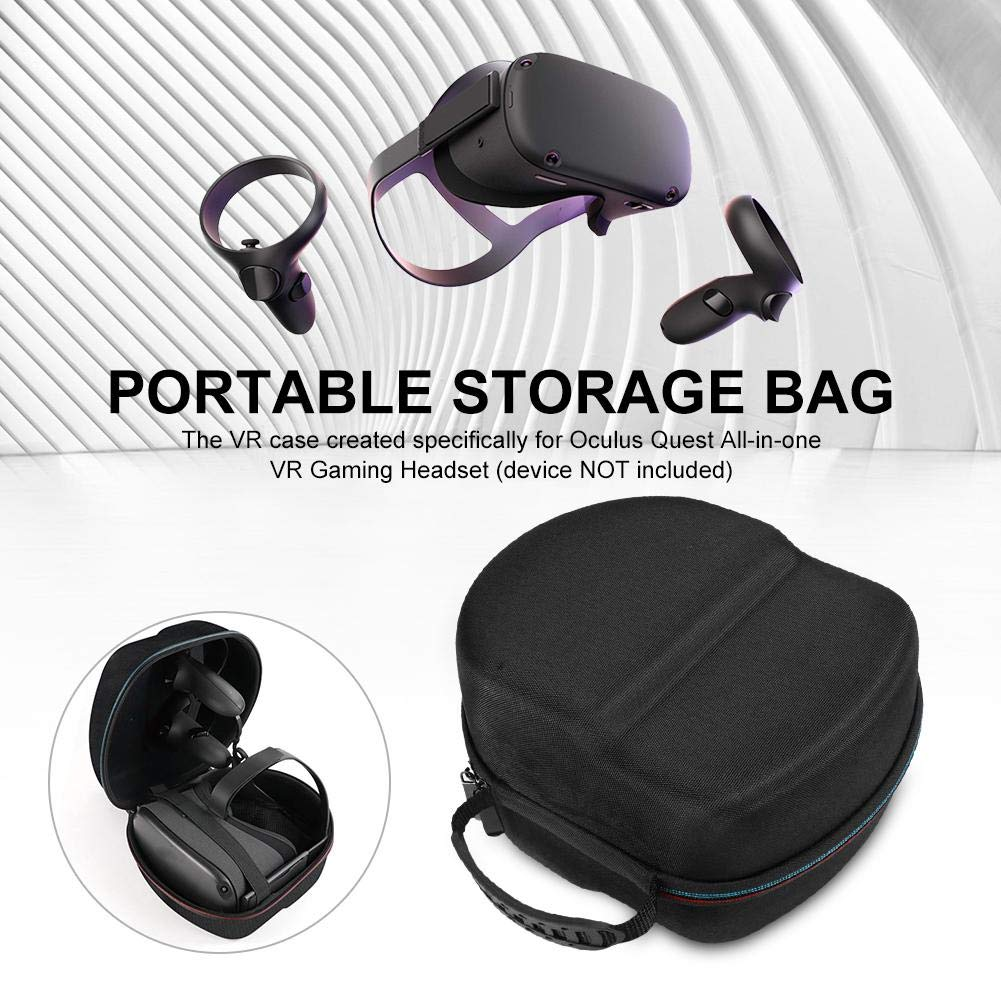 Portable Case for Oculus Rift S PC-Powered VR Gaming Hard Carrying Headset Controller Accessories Protective Bag