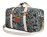 Malirona Canvas Weekender Bag Travel Duffel Bag for Weekend Overnight Trip (Black Flower) Review