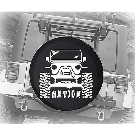 yyndw Copertura del Pneumatico Copertura della Ruota di Scorta Sollevata Fuoristrada Nation per Camion Rimorchio SUV Jeep SUV 70~75cm