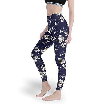 Ainiteey Pflanze Blumig- Mallas de Yoga para Mujer Capri ...