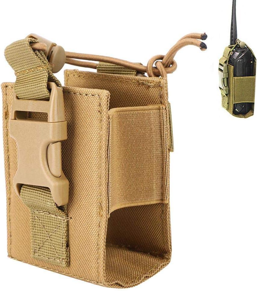 Tangxi Black Multi-Function MSC-20D Nylon Bag Pouch Holster Wear-Resistant Case for Walkie Talkie Baofeng Motorola Kenwood Radio