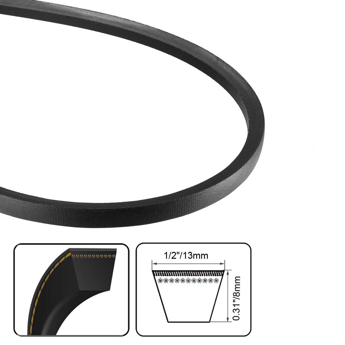 uxcell/® A-37 Drive V-Belt Girth 37-inch Industrial Power Rubber Transmission Belt