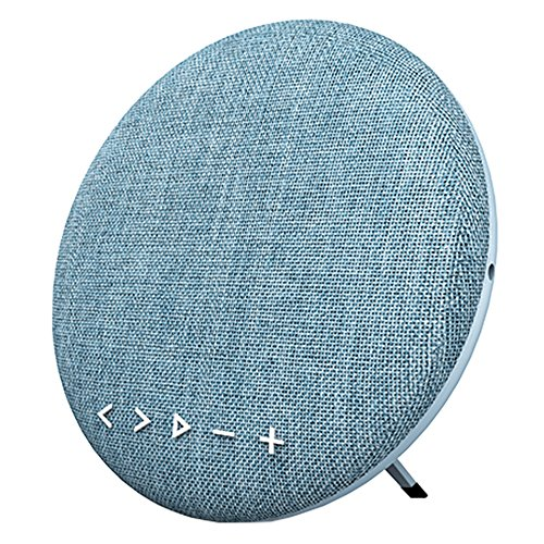 Sardine Portable Bluetooth Speaker Fabric Wireless Bluetooth 4.2 Speakers with 12W HD Sound,Rotation Control,12Hours Playtime,Handsfree for iPhone, iPad,Samsung,Tablet,Echo Dot-Rhythm (Blue) by SARDINE