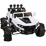 JAXPETY 12V Kids Ride On Truck Jeep Car Battery Powered Electric Car W/2.4GRemote Control White