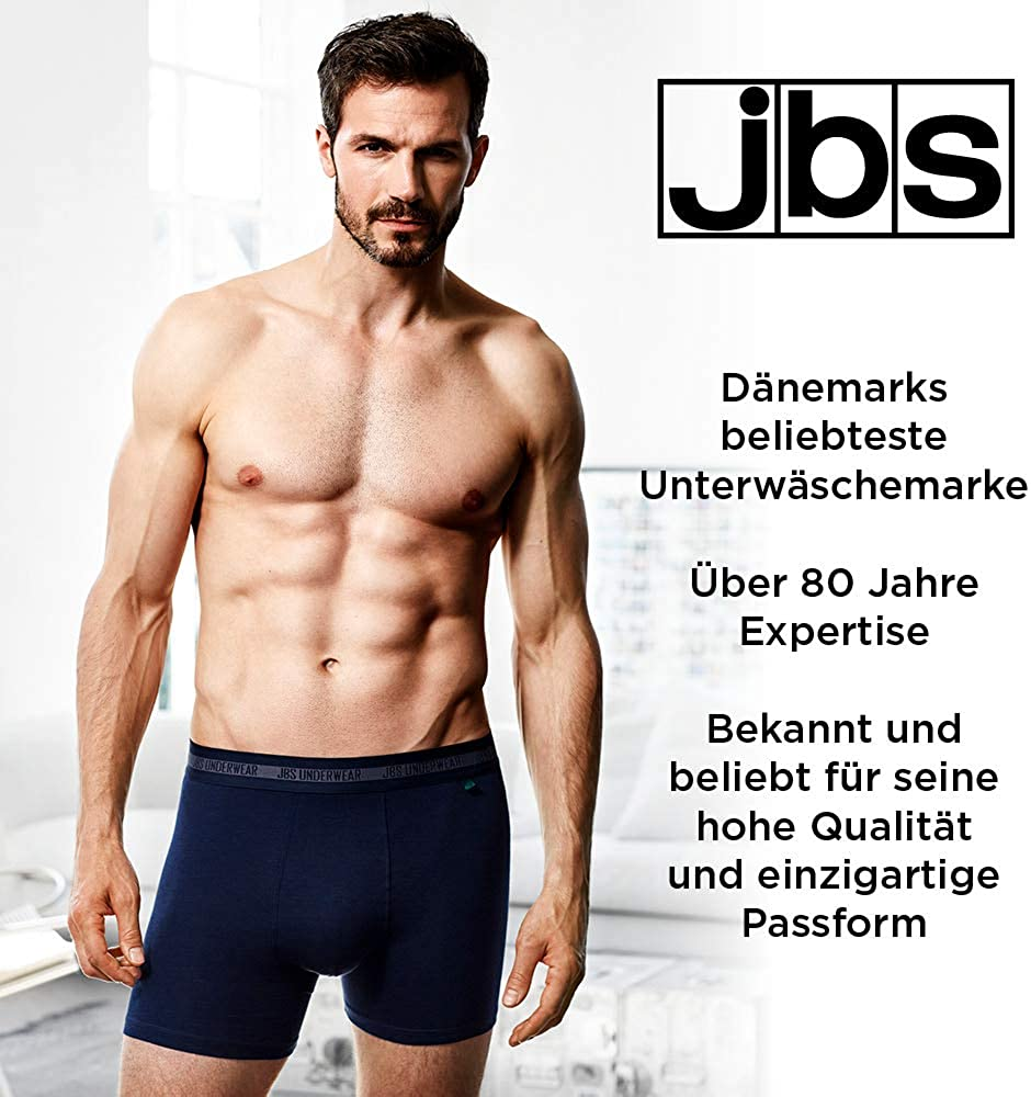 Bamboo Cotton Mix Highly Breathable with an Ultra Soft Touch 2 Pack - Black Quick Dry jbs /® T-Shirt Men No Itchy Tag