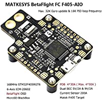 Matek AIO F4 FC Flight Controller + PDB + Bateflight OSD + BEC for FPV Racing RC Drone Quadcopter