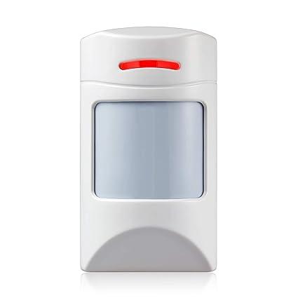 KERUI - Detector de Movimiento inalámbrico para Mascotas de 12 kg PIR para Sistema de Alarma