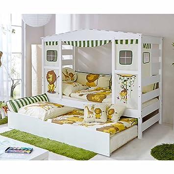Kinderbett dschungel  Pharao24 Kinderbett mit Ausziehbett Dschungel Design: Amazon.de ...