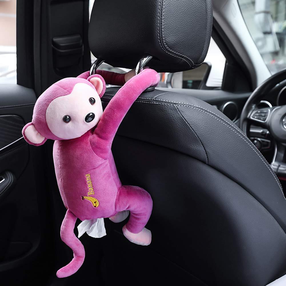 giocattolo carina bagno Marrone ufficio camera da letto per auto scimmia Wyi fazzoletti 52 * 35 cm scatola creativa per fazzoletti carta