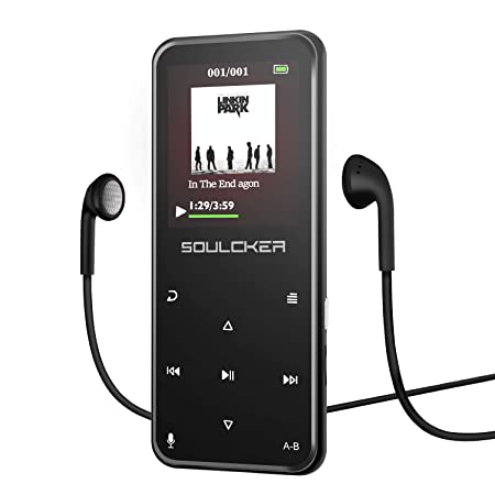 MP3 Player, Bluetooth 8GB MP3 Player mit Kopfhörern, Digital Kinder MP3 Player mit Lautsprecher FM Radio Voice Recorder,unter