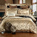 LightInTheBox 500 TC Jacquard Embroidered Original Design Ikea Style Floral Duvet Cover Sets