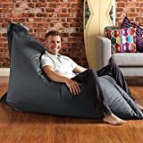 BAZAAR BAG ?? - Giant Beanbag SLATE GREY - Indoor & Outdoor Bean Bag - MASSIVE 180x140cm - GREAT for Indoor & Garden by Bean Bag Bazaar
