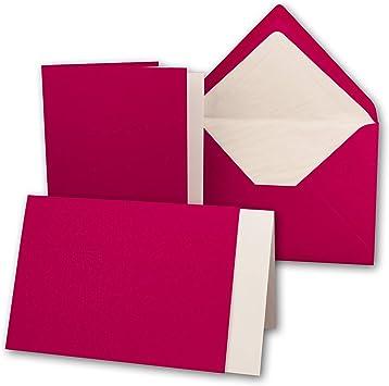 Doppelkarten mit Umschl/ägen Wei/ß Einlegepapier und Cellophanbeutel zum Basteln 25x DIN B6 Faltkarten-Set Hochwei/ß - 11,5 x 17 cm