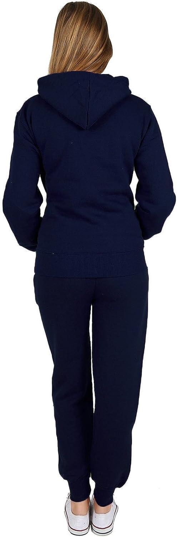 dise/ño liso Ch/ándal Parsa Fashions/® para mujer sudadera con capucha 2 piezas pantalones largos