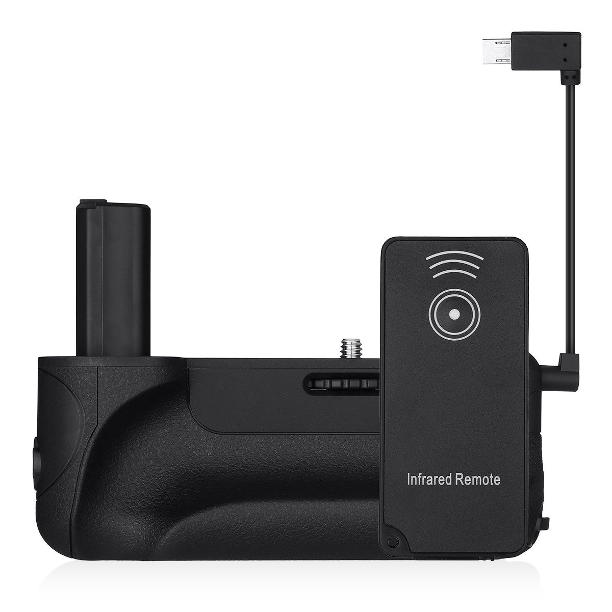 Powerextra 2.4G Pro Battery Grip With 2.4G Wireless Remote Control Replacement for Sony Alpha A6500 Mirrorless Camera Work With NP-FW50 Battery