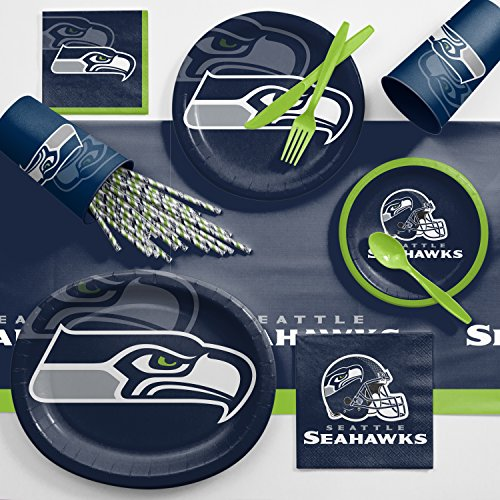 Creative Converting Seattle Seahawks Ultimate Fan Party Supplies Kit