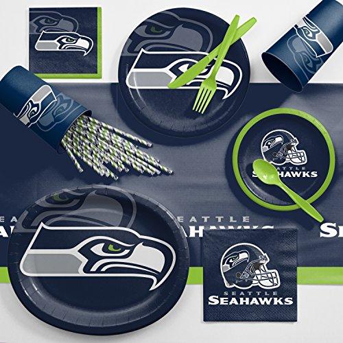 Seattle Seahawks Ultimate Fan Party Supplies Kit ()
