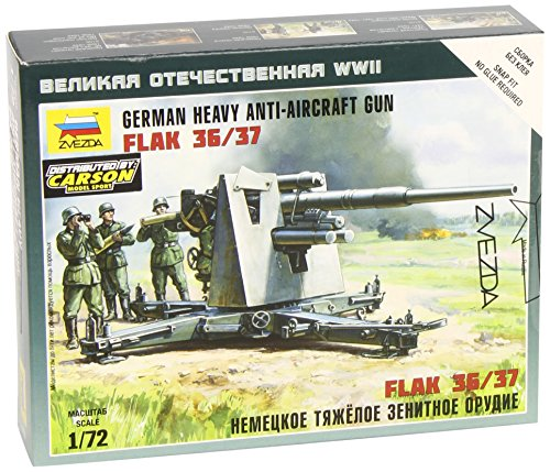 Zvezda 6158 German Heavy Anti-Aicraft Gun Flak 36/37 Scale 1/72 45 Details Lenght - 3.5