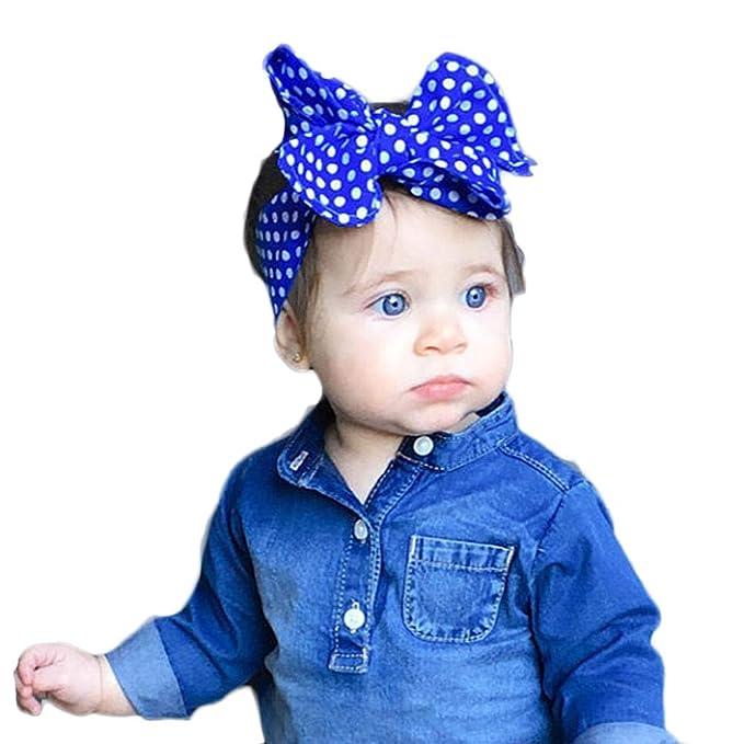 3538dc1baef7a8 OSYARD Baby Mädchen Stirnband Kopfband Headband, Kleinkind Welle Spot  Stirnband Gummibänder Neugeborene Elastisches Kopfband Niedlich Schleife  Stirnbänder ...