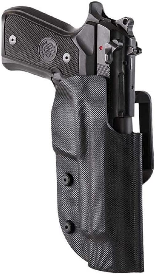 Ghost International Pistola de Fantasma Civil Negra con Doble Ataque, para Disparos dinámicos IPSC, IDPA, IASC, FIAS, Puertos Ocultos y Civiles (Beretta 92/92-A1/ 96/98 - Taurus 24/7, para diestros)