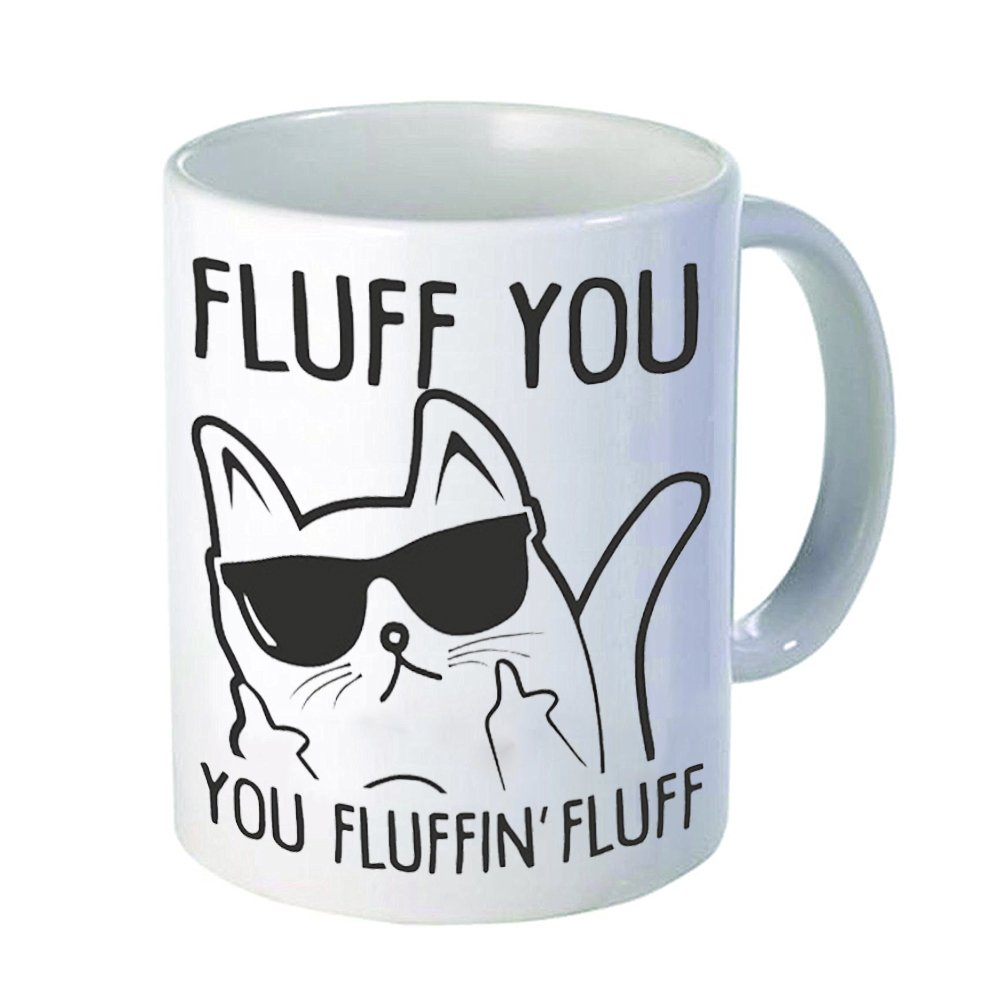 NINNAYUAN Cool Cat Sunglasses 11 ounces of ceramic coffee cups - your velvet hair cups - every day to warm you