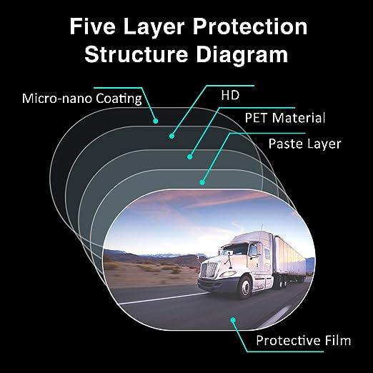 Festnight Film de r/étroviseur de Voiture Membrane Anti-bu/ée /étanche /à la Pluie fen/être de r/étroviseur de Voiture de Protection Film de Protection 2 PCS