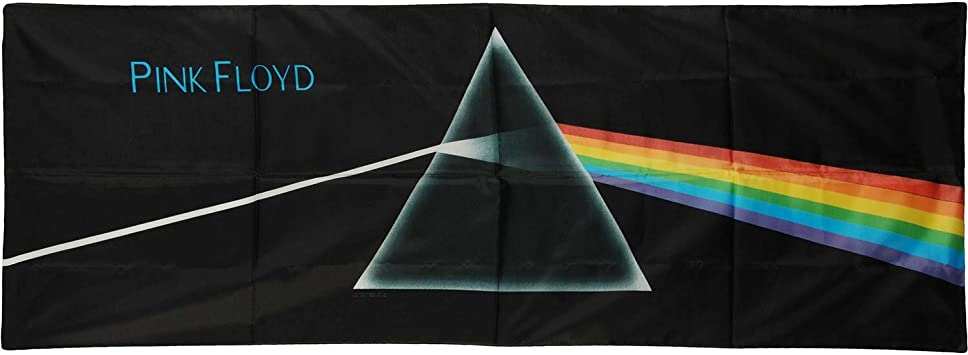 Authentic PINK FLOYD Dark Side Of The Moon Silk-Like Fabric Poster Flag NEW