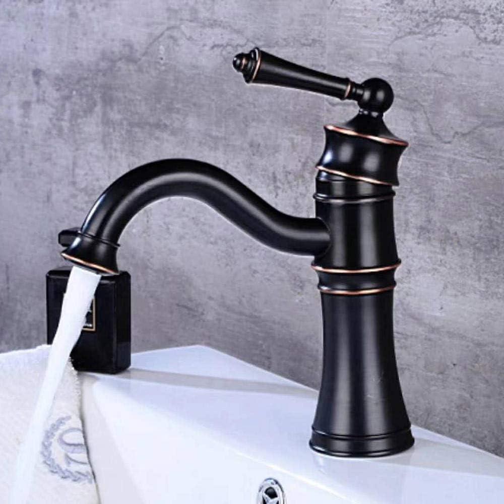 Black Kitchen Sink Spout Bathroom Basin Mixer Faucet Singl Hole Tap